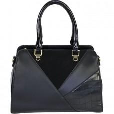 Женская сумка из кожзама и замши №JR0133 замша