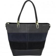 Женская сумка из замши и кожзама №58776 замша