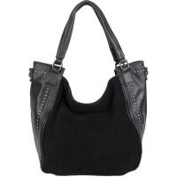 Женская сумка из кожзама и замши №WW-1080 замша