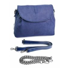 Женская кожаная сумка с замшей №865-2
