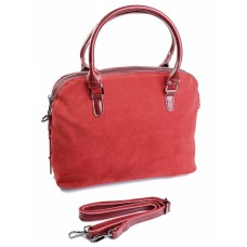 Кожаная женская сумка с замшей №F227-1