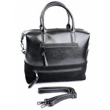 Женская кожаная сумка с замшей №F320-1