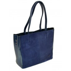 Кожаная сумка женская с замшей №8630-1