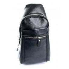 Мужская кожаня сумка-слинг №5425