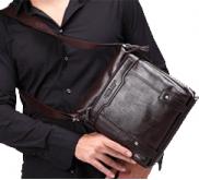 Купить мужскую кожаную сумку, портмоне, портфель