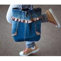 Новые модели джинсовых сумок и джинсовых клатчей